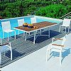 Aluminum Outdoor Furniture - Outdoor Dining Set Rivage 9-Piece